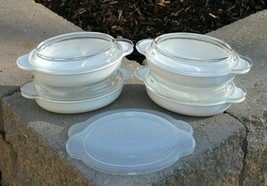 Set of 4 Corning Ware Casserette Oval Grab It Au Gratin Dishes w/Lids P-14-B - $49.99