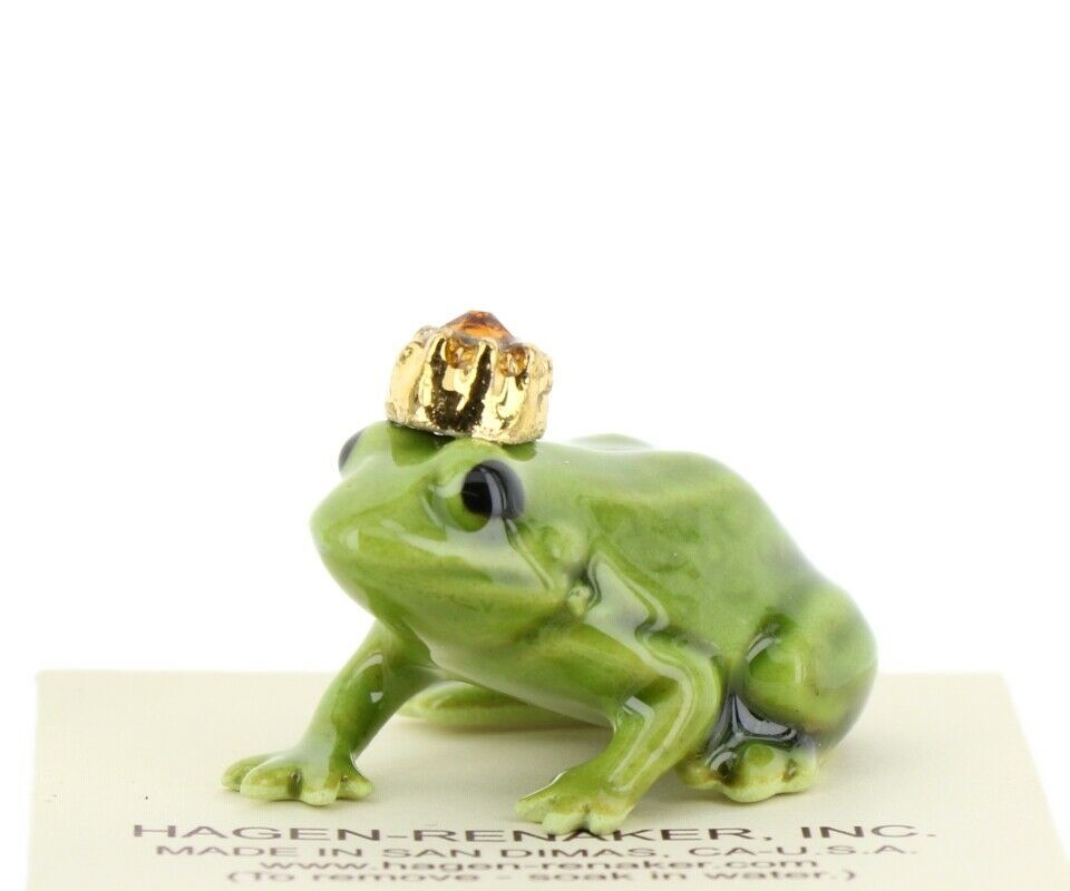 Birthstone Frog Prince November Simulated Citrine Miniatures by Hagen-Renaker