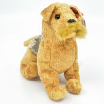 2000 Ty Beanie Baby Whiskers the Schnauzer Terrier Puppy Dog Beanbag Plush Toy image 4