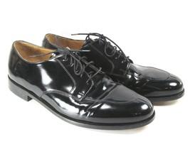 Cole Haan Apron Toe Lace up Oxford Black Patent Dress Shoes Mens Size 12 D - $31.04