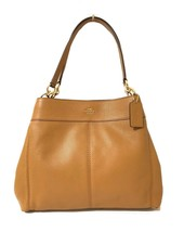 Coach F57545 Lexy Pebble Leather Shoulder Bag (IM/Light Saddle) - $155.04