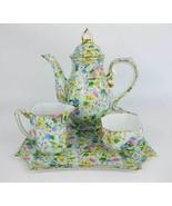 Two's Company Tea Set~Creamer~Sugar~Teapot~Tray - $55.00