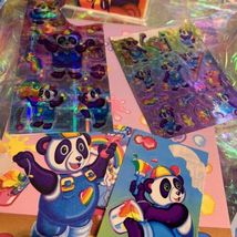 Lisa Frank PANDA PAINTER HOLLYWOOD BEAR lot Stickers Stationery Notecard Etc Mor image 10
