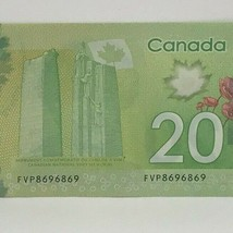 Canadian 2012 $20 Repeater Note Serial # FVP8696869 - $38.69