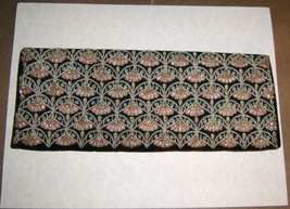 Clutch Purse Gold Metal Braid Thread Fan Flower Black Velvet Hand Strap ... - $14.20
