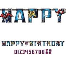 amscan Transformers Add-an-Age Letter Banner - $9.60