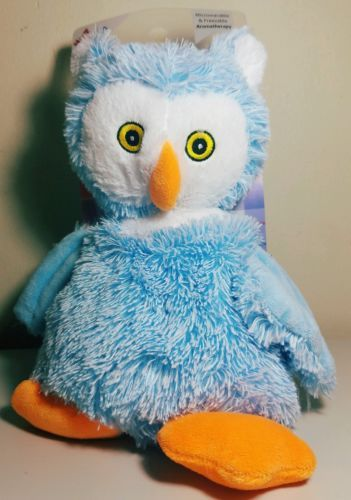 NEW BEAD BUDDIES BABY BLUE OWL HOT AND COLD AROMATHERAPY MICROWAVEABLE FREEZABLE