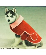 Small Dog Fleece-Lined Corduroy Coat - Casual Canine -Red Dog Coat w/ Ve... - $8.95
