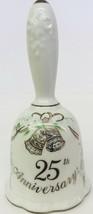 25th Anniversary Bell # 03771 Wedding Bells Doves Pattern 1983 Lefton China - $15.83