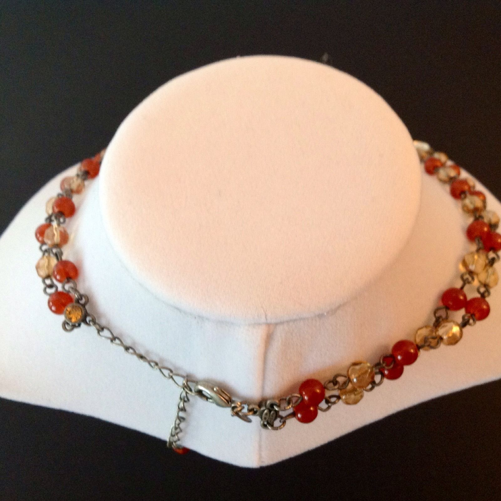 Avon Necklace Bracelet Earrings 3 Piece Set Signed Colored Stones 2002 Vintage image 4