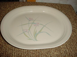 Corelle Spring Pond 12.25 In Oval Serving Platter Vguc Free Shipping In Usa - $23.36