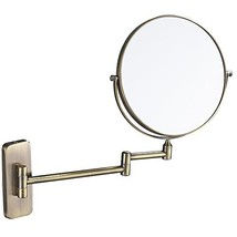 GURUN 8-Inch Double-Sided Wall Mount Makeup Mirror Antique Bronze with 7... - $64.41