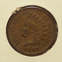 1907 Indian Head Penny EF #0303 - $7.99