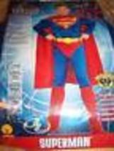 Boy's Size Medium 8-10 Muscled Superman Super Man Halloween Costume New - $32.00