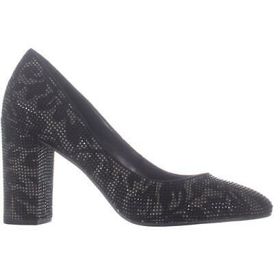 MICHAEL Michael Kors Jamie Pump Classic Heels, Black Leaf Leather image 4
