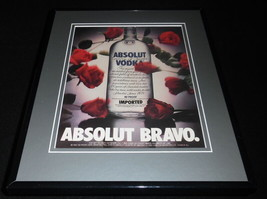 1987 Absolut Bravo Vodka Framed 11x14 ORIGINAL Advertisement - $34.64