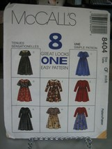 McCall's 8404 Girl's Dresses Pattern - Size 4/5/6 Chest 23-25 Waist 21-22 - $6.92