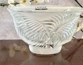 Lalique Crystal Kelapa Bowl Coconut Palm Fronds Design Mint Signed Authentic - $295.02