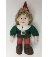 Vintage Christmas Kids Of America Green Elf Stuffed Plush Animal Toy - $19.79