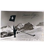 Olympic Postcard RPPC Signed Franz Hug Flag Thrower 1936 Olympic Games B... - $4.74