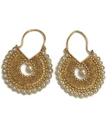 Ea e161  Bollywood Designer Pearls Golden Chandbali Earring Set. Indian ... - $19.99