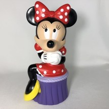 Applause Disney Minnie Mouse Piggy Bank Coin Heavy Vinyl Plastic 9 3/4 Inch - $14.20