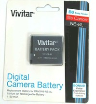 CANON VIVITAR B6 Digital Camera Battery NB8L NB-8L VIV-CB-8L Powershot NEW - $8.03