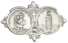 Our Lady of the Highway Visor Clip - Silver Finish  - $25.99