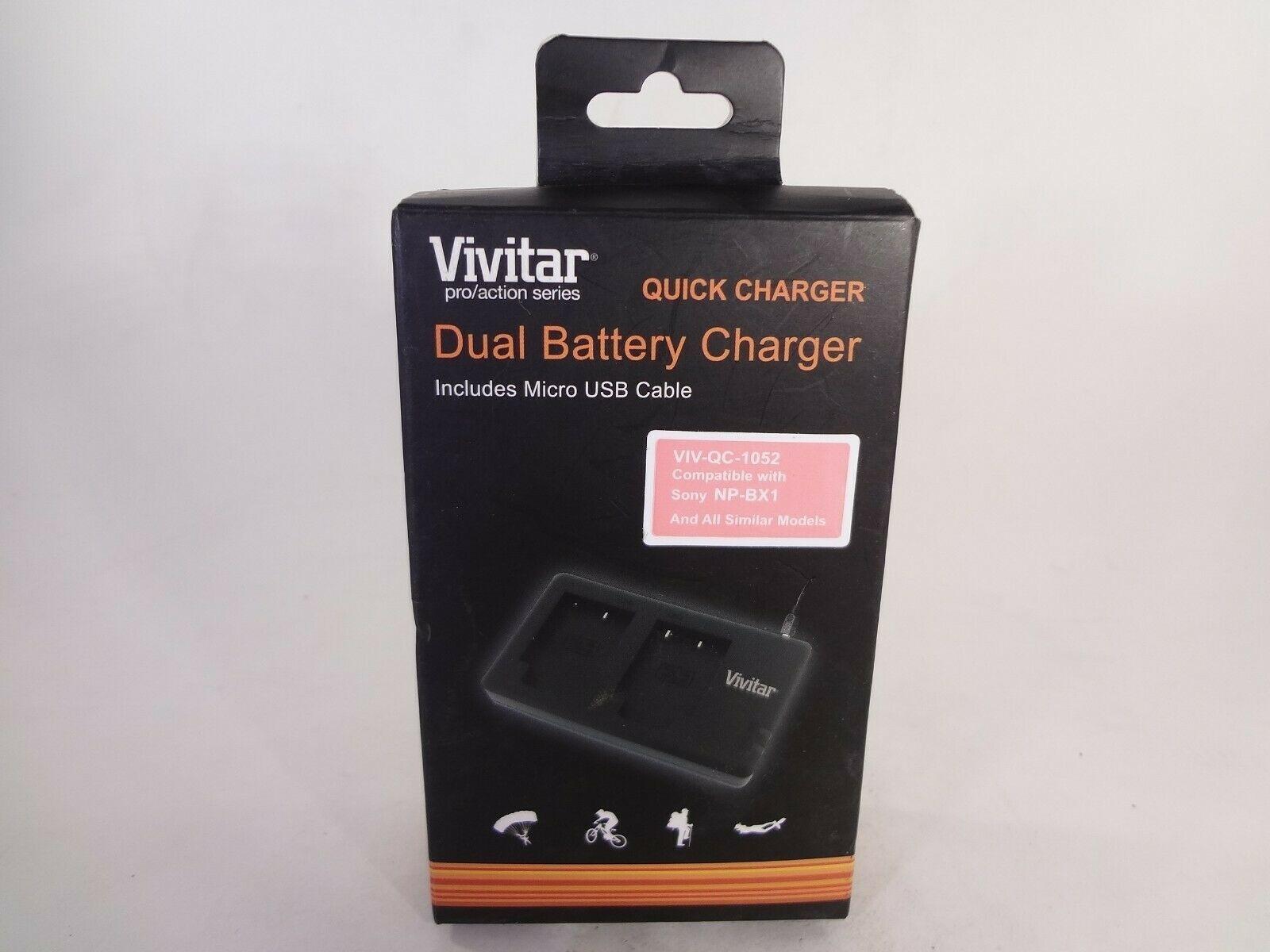Vivitar Quick Charger Dual Battery Charger VIV-QC-1052 [EH-V] - $14.03