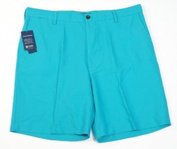 Chaps Comfort Waistband Persian Green Flat Front Casual Shorts Mens NWT - $44.99