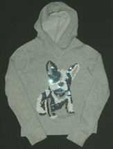 Old Navy Girls SZ M 8 Sequence Bull Terrier Dog Pullover Hoody LS Top Shirt Cute - $19.78