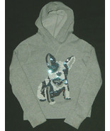 Old Navy Girls SZ M 8 Sequence Bull Terrier Dog Pullover Hoody LS Top Sh... - $19.78