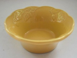SUR LA TABLE Yellow Acorn Leaf Ramekin Bowl Oven Safe Portugal - £9.57 GBP