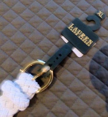 $38.00 Lauren Ralph Lauren Woven Stretch Belt, White, XL