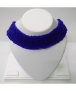 Necklace Seed Beads Handmade Jewelry Ethnic Boho Chic Fusion Choker Coll... - $10.88