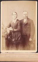 Hiram Gooder & Wife Sarah Bottomley Cabinet Photo - Burlington, Wisconsin - $19.75