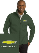 Chevrolet Green Embroidered Port Authority Core Soft Shell Unisex Jacket... - $39.99