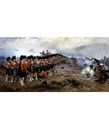 The Thin Red Line Battle of Balaclava Painting by Robert Gibb Art Reprod... - $32.99+