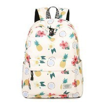 Women Waterproof Backpack Student Book Bag Girl Cute Pineapple Floral Bi... - $39.99