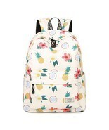 Women Waterproof Backpack Student Book Bag Girl Cute Pineapple Floral Bi... - £30.00 GBP