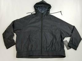 new BCBGMAXAZRIA women rain jacket hooded full zip BMAX0011 black grey s... - $39.59