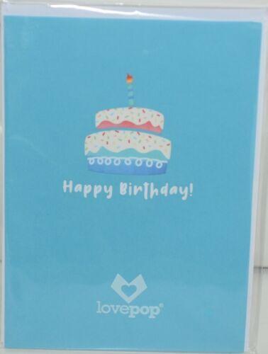 Lovepop LP2552 Rainbow Happy Birthday Cake Pop Up Card White Envelope
