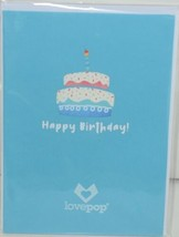 Lovepop LP2552 Rainbow Happy Birthday Cake Pop Up Card White Envelope image 1
