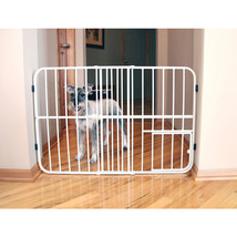 Carlson Pet Beige Tuffy Expandable Pet Gate With Door 26-42wx24h In 8916... - $51.05