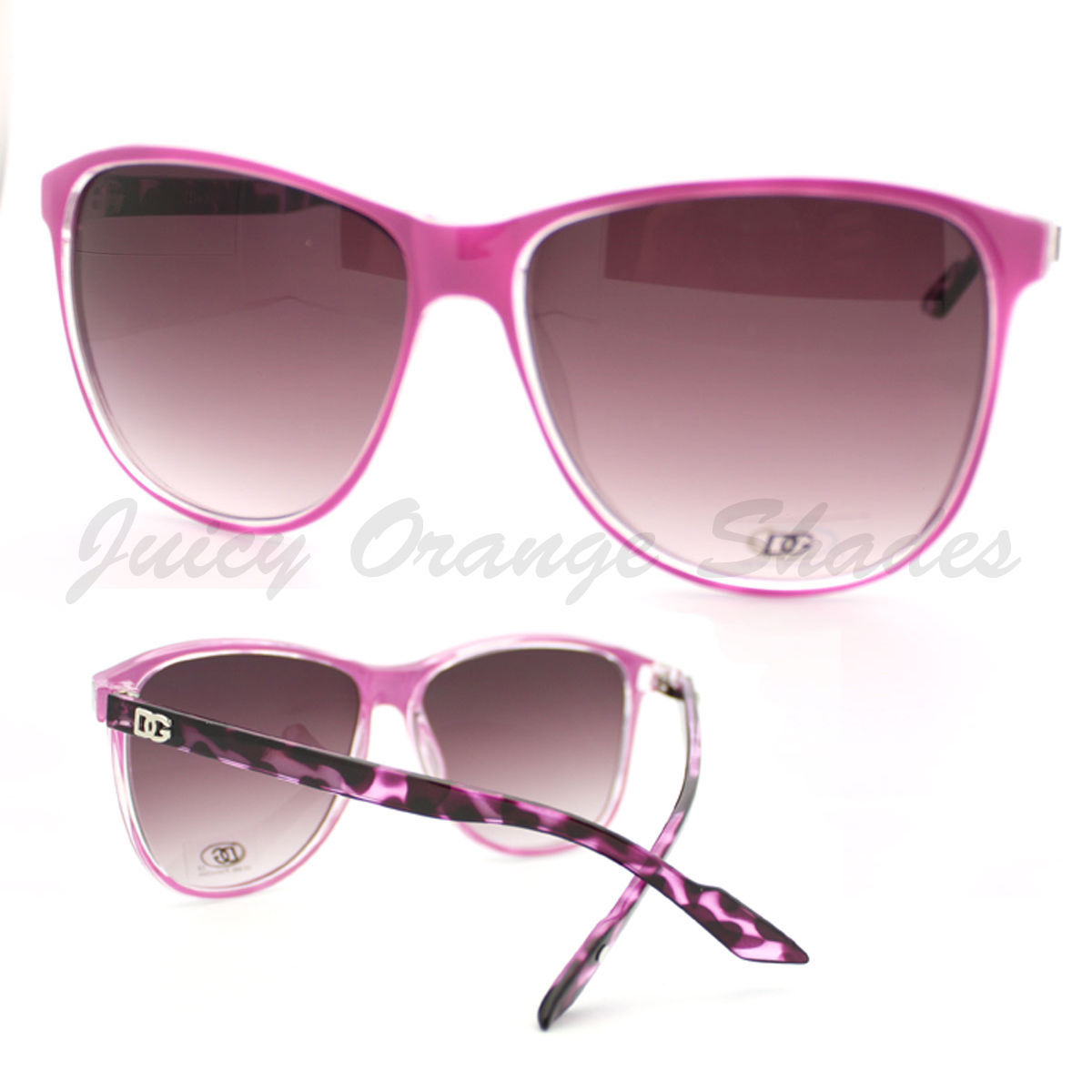 Womens Sunglasses Retro Fashion Eyewear 2-Tone Classic Frames (8 Colors)