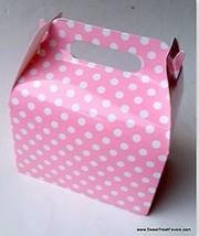 PINK WHITE POLKA SOFT Party Supplies BOXES Birthday Decoration GABLE x12... - $12.82