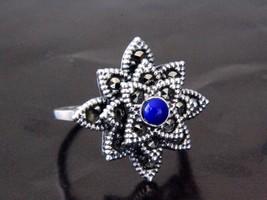 Authenti Turkish 925 Sterling Silver Womens Ring Lapis Lazuli Gemstone M... - $23.57