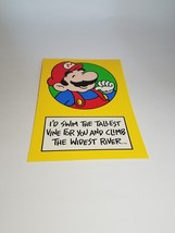 "Vintage Super Mario Brothers Greeting Card Nintendo 1989 ""Swim and Climb... - $9.99"