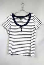 LRL Lauren RALPH LAUREN XL Navy & White 100% Cotton Short Sleeve T-Shirt... - $33.02