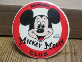 Vintage Pinback Button Mickey Mouse Club Walt Disney Productions - $9.35